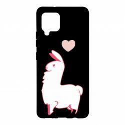 Чохол для Samsung A42 5G Alpaca with a heart