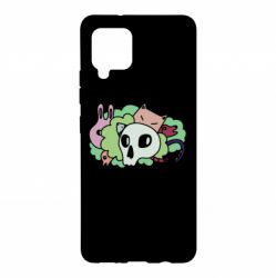 Чехол для Samsung A42 5G Animals and skull in the bushes