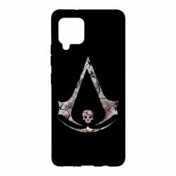 Чехол для Samsung A42 5G Assassins Creed and skull
