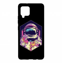 Чохол для Samsung A42 5G Astronaut with donut and pizza