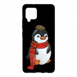 Чохол для Samsung A42 5G Baby penguin with a scarf