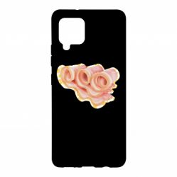 Чехол для Samsung A42 5G Bacon with flowers on the background