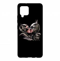 Чехол для Samsung A42 5G Batman and Catwoman Kiss