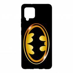 Чохол для Samsung A42 5G Batman logo Gold