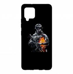 Чехол для Samsung A42 5G Battlefield Warrior