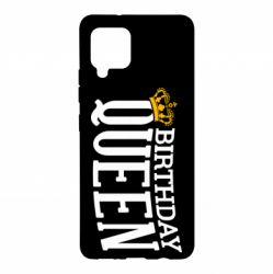 Чехол для Samsung A42 5G Birthday queen and crown yellow