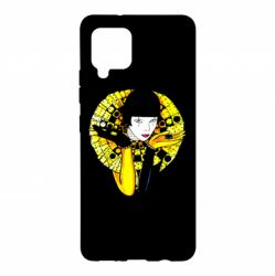Чехол для Samsung A42 5G Black and yellow clown
