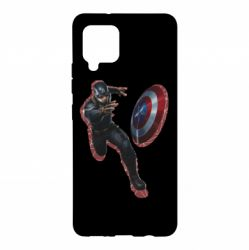 Чехол для Samsung A42 5G Captain america with red shadow