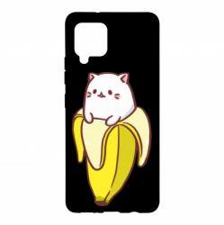 Чехол для Samsung A42 5G Cat and Banana