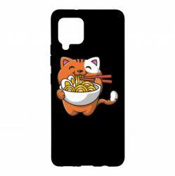 Чохол для Samsung A42 5G Cat and Ramen
