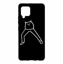 Чохол для Samsung A42 5G Cat in pants