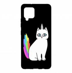 Чехол для Samsung A42 5G Cat Unicorn