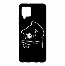 Чехол для Samsung A42 5G Cheerful kitten