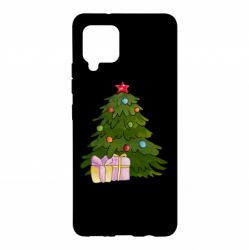 Чехол для Samsung A42 5G Christmas tree and gifts art
