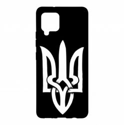 Чехол для Samsung A42 5G Coat of arms of Ukraine torn inside