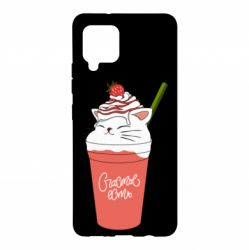 Чехол для Samsung A42 5G Cocktail cat and strawberry