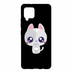 Чохол для Samsung A42 5G Cute cat with big eyes