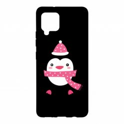 Чехол для Samsung A42 5G Cute Christmas penguin