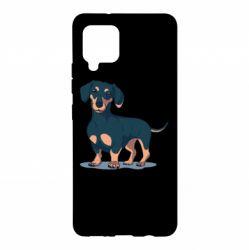 Чохол для Samsung A42 5G Cute dachshund