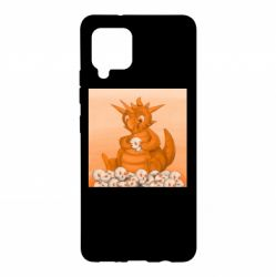 Чохол для Samsung A42 5G Cute dragon with skulls