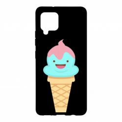 Чохол для Samsung A42 5G Cute face ice cream