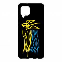Чохол для Samsung A42 5G Дитячий малюнок прапор України