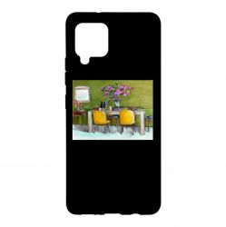 Чохол для Samsung A42 5G Dining table with flowers