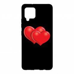 Чехол для Samsung A42 5G Два сердца