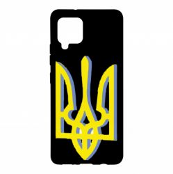 Чехол для Samsung A42 5G Двокольоровий герб України