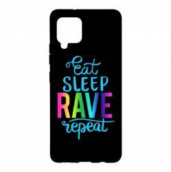Чохол для Samsung A42 5G Eat, sleep, RAVE, repeat