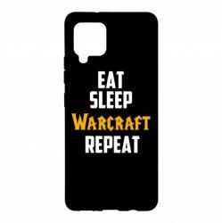 Чехол для Samsung A42 5G Eat sleep Warcraft repeat