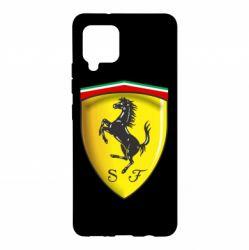 Чехол для Samsung A42 5G Ferrari 3D Logo
