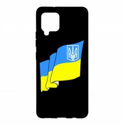 Чехол для Samsung A42 5G Флаг Украины с Гербом