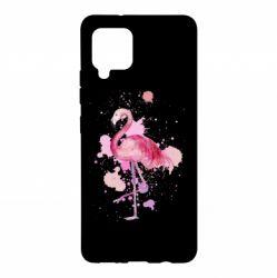 Чохол для Samsung A42 5G Flamingo pink and spray