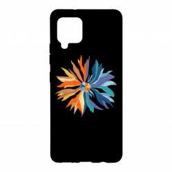Чохол для Samsung A42 5G Flower coat of arms of Ukraine