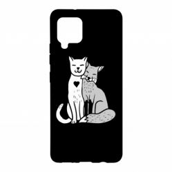 Чохол для Samsung A42 5G Fox and cat heart