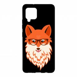 Чохол для Samsung A42 5G Fox with a mole in the form of a heart