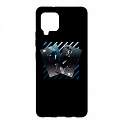 Чехол для Samsung A42 5G Gambling Cards The Witcher and Cyrilla