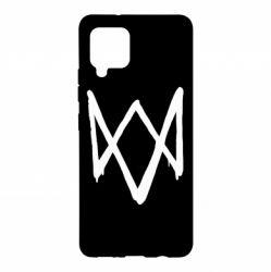 Чехол для Samsung A42 5G Graffiti Watch Dogs logo