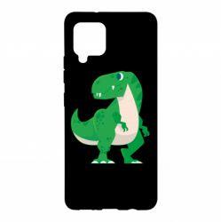 Чохол для Samsung A42 5G Green little dinosaur