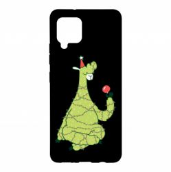 Чехол для Samsung A42 5G Green llama with a garland