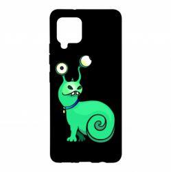 Чехол для Samsung A42 5G Green monster snail