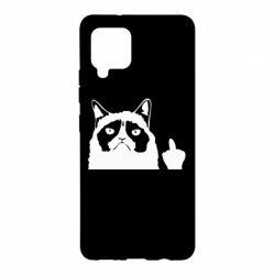 Чохол для Samsung A42 5G Grumpy cat F**k Off