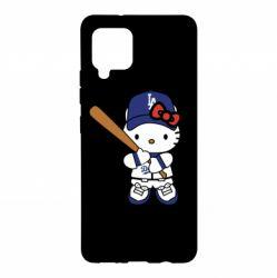 Чохол для Samsung A42 5G Hello Kitty baseball