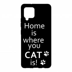 Чохол для Samsung A42 5G Home is where your Cat is!