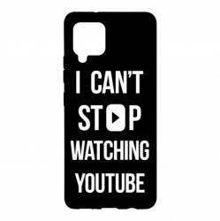 Чохол для Samsung A42 5G I can't stop watching youtube