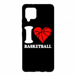 Чохол для Samsung A42 5G I love basketball