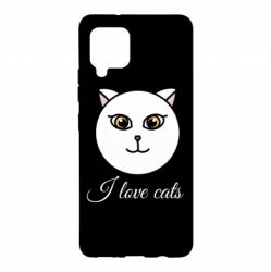 Чохол для Samsung A42 5G I love cats art
