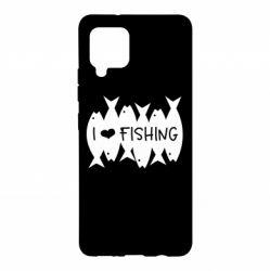 Чохол для Samsung A42 5G I Love Fishing