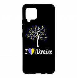 Чохол для Samsung A42 5G I love Ukraine дерево